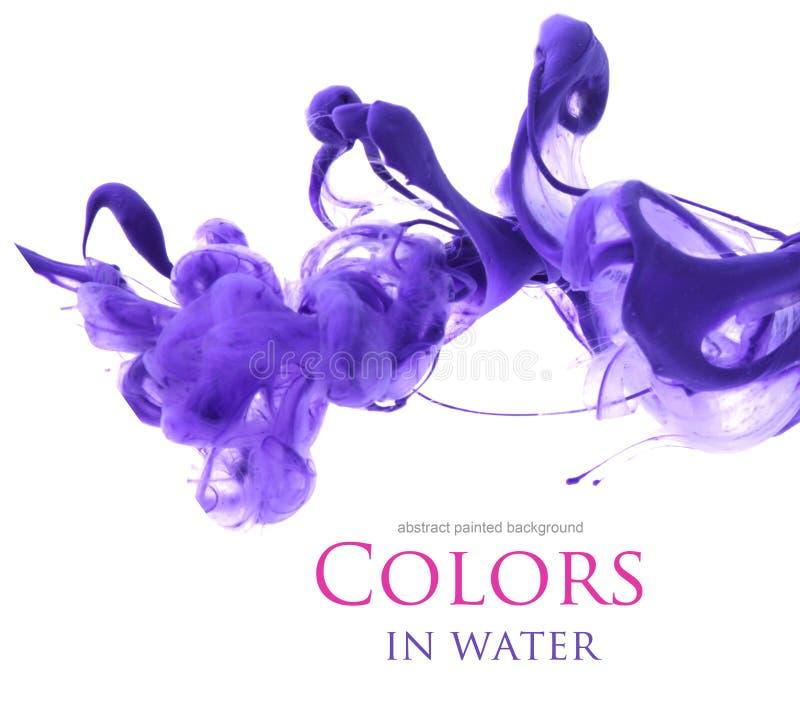 Akrylfärger i vatten arkivbilder