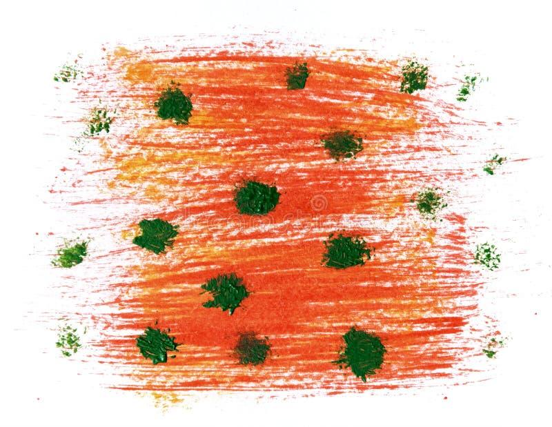 Akrylowa ręka rysować czerwone abstrakcjonistyczne pluśnięcie plamy ilustracja wektor