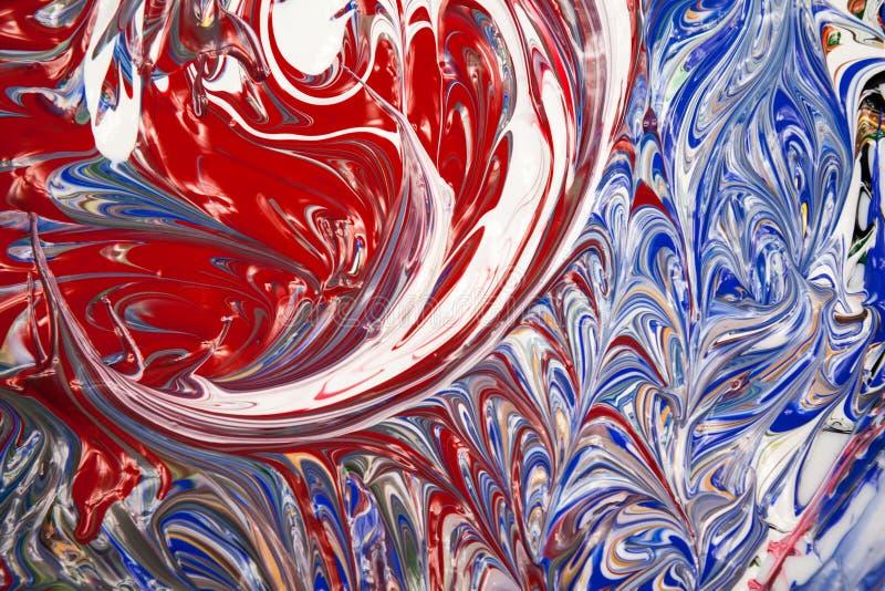 Akrylowe farby - tekstura zdjęcie stock