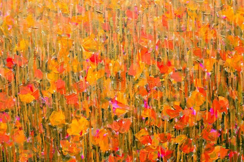 Akrylowej farby ręki sztuki abstrakta rysunkowy tło zdjęcia royalty free