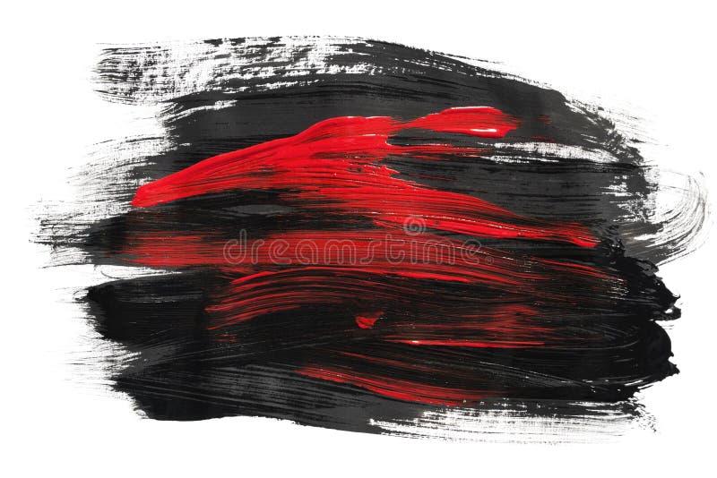 Akrylowej farby uderzenia royalty ilustracja