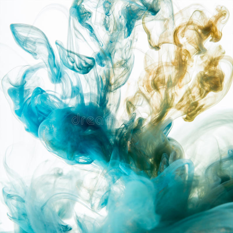 Akrylowi kolory Atramenty w wodzie obraz stock
