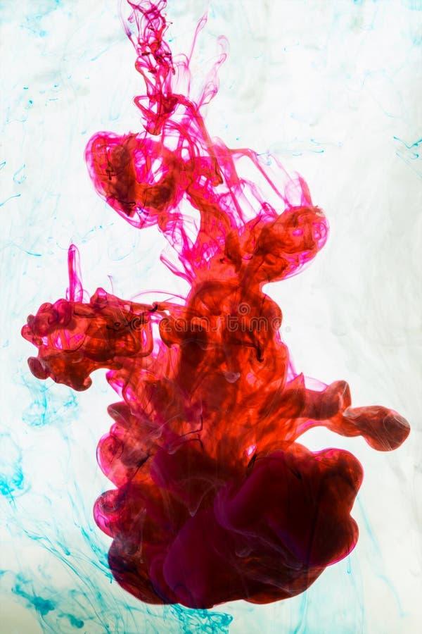 Akrylowi kolory Atramenty w wodzie zdjęcie stock