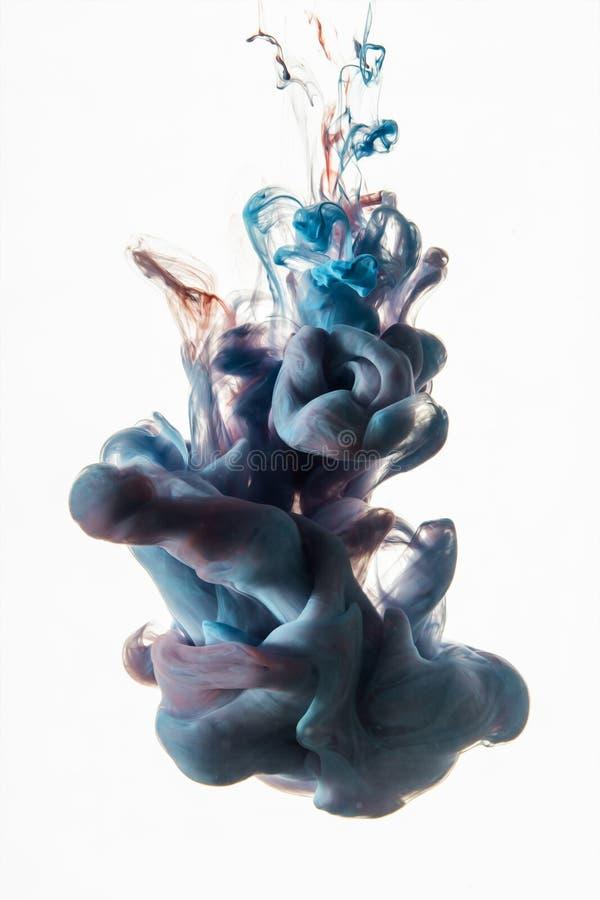 Akrylowi kolory Atramenty w wodzie obrazy stock