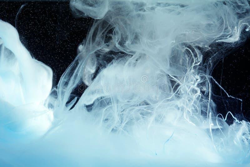 Akrylowi kolory w wodzie Atramentu kleks abstrakcyjny t?o obraz stock