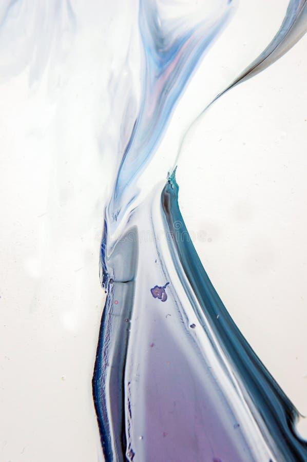 Akrylowy, farba, abstrakt Zbliżenie obraz Kolorowy abstrakcjonistyczny obrazu tło Textured nafciana farba Wysokiej jakości zdjęcie royalty free