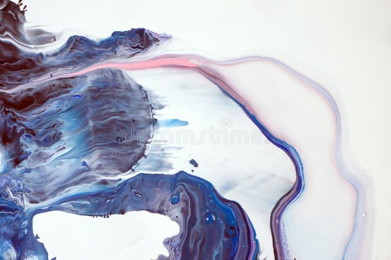 Akrylowy, farba, abstrakt Zbliżenie obraz Kolorowy abstrakcjonistyczny obrazu tło Textured nafciana farba Wysokiej jakości ilustracja wektor