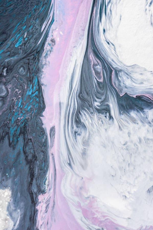 Akrylowy, farba, abstrakt Zbliżenie obraz Kolorowy abstrakcjonistyczny obrazu tło Textured nafciana farba Wysokiej jakości obrazy royalty free