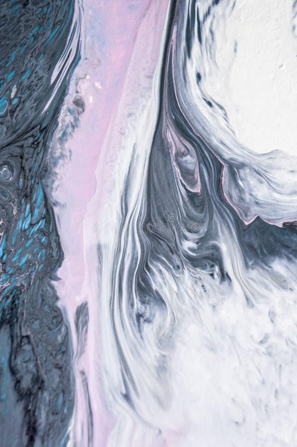 Akrylowy, farba, abstrakt Zbliżenie obraz Kolorowy abstrakcjonistyczny obrazu tło Textured nafciana farba Wysokiej jakości zdjęcia stock