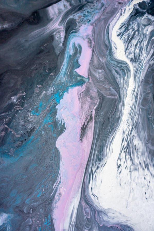 Akrylowy, farba, abstrakt Zbliżenie obraz Kolorowy abstrakcjonistyczny obrazu tło Textured nafciana farba Wysokiej jakości zdjęcie stock