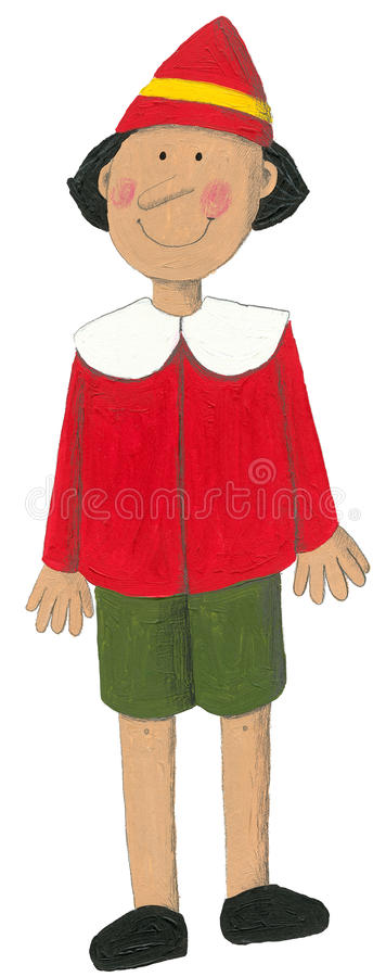 akrylowy ilustracyjny pinocchio ilustracja wektor