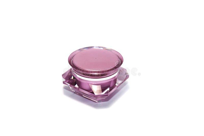 Akrylowy różowy kremowy pakować zdjęcia stock