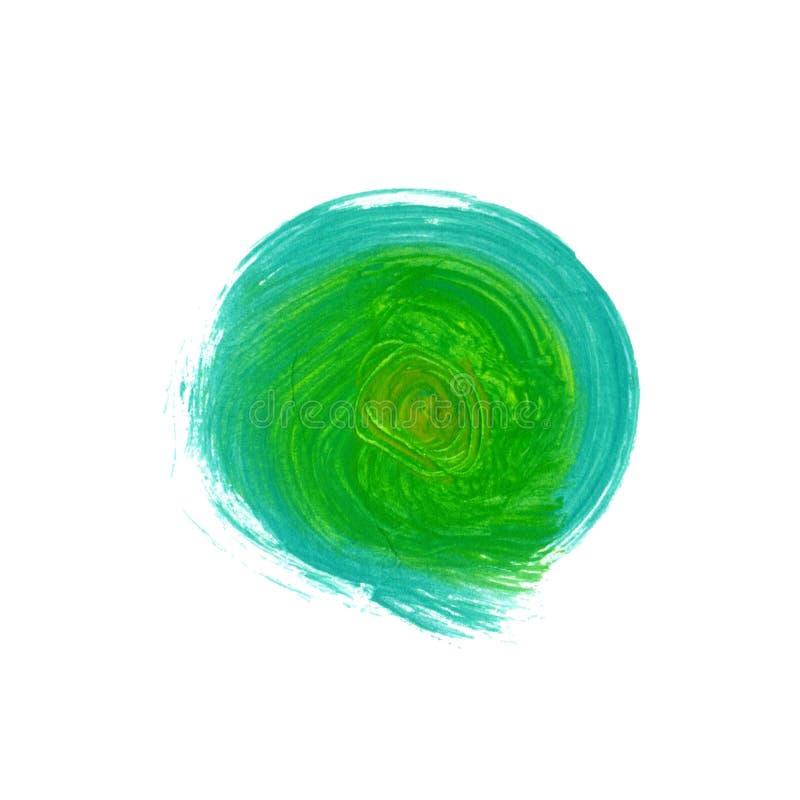 Akrylowy szczotkarski textured turkusu i zieleni round tło ilustracja wektor