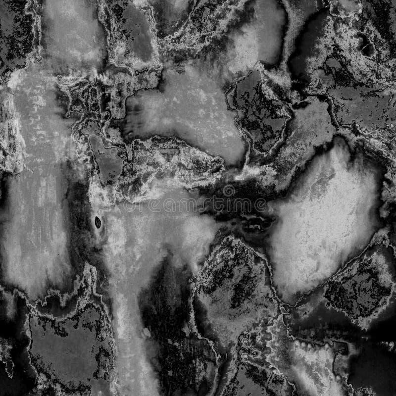 Akryltextur för bakgrundsmonokrom som är svart med vitt stock illustrationer