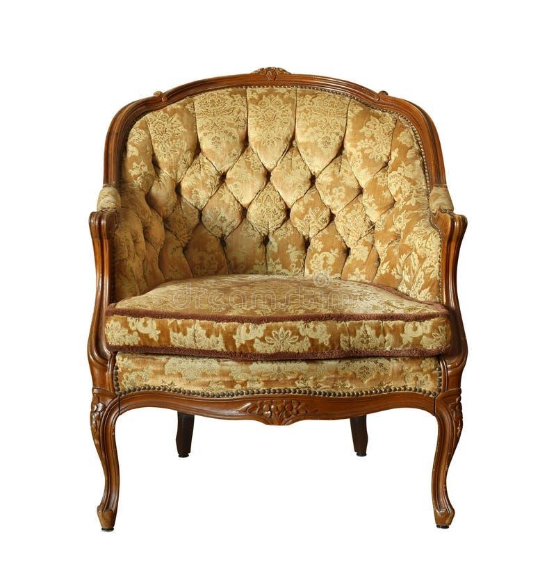 Aksamitny rocznika krzesło zdjęcie stock