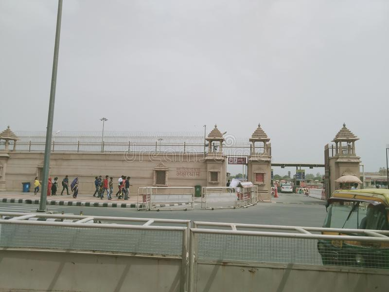 Akshardham eller Swaminarayan Akshardham komplex royaltyfri foto