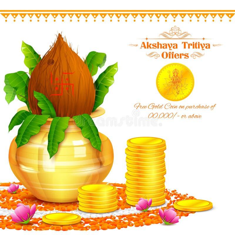 Akshay Tritiya庆祝 皇族释放例证
