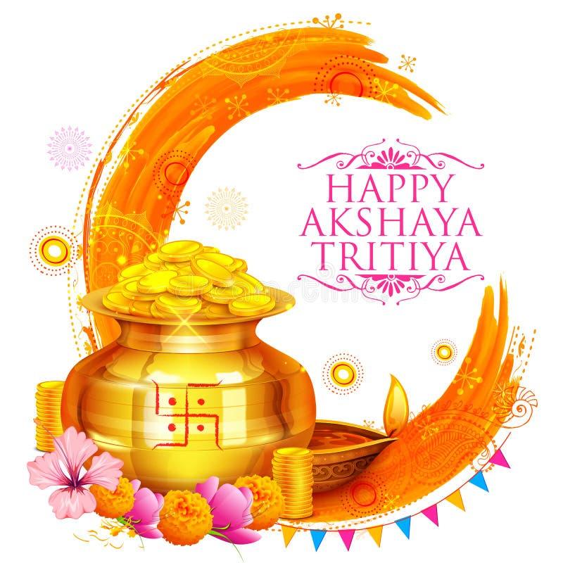 Akshay Tritiya celebration. Illustration of background for Happy Akshay Tritiya celebration vector illustration