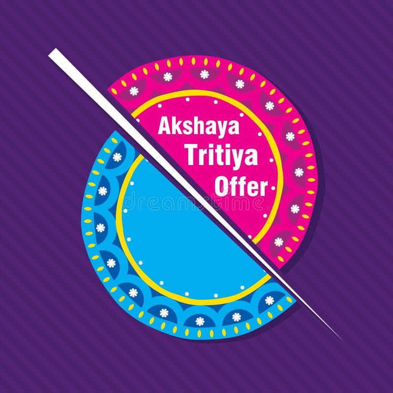 Akshaya tritiya节日提议模板 向量例证