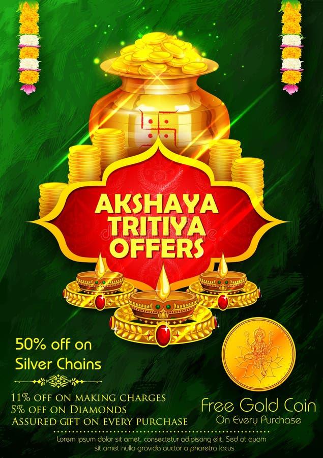 Akshaya Tritiya świętowania sprzedaży promocja royalty ilustracja