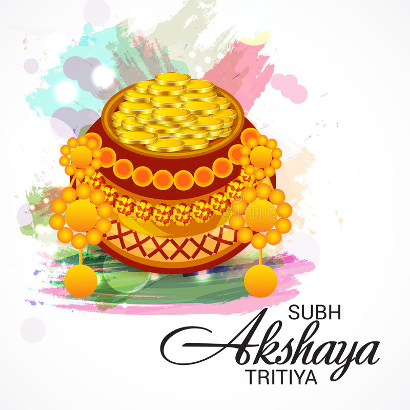 Akshaya Tritiya ilustração do vetor