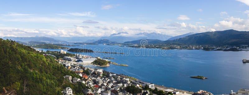 Aksla viewpoint in Alesund city in Norway. Aksla viewpoint in Alesund South Norway stock image