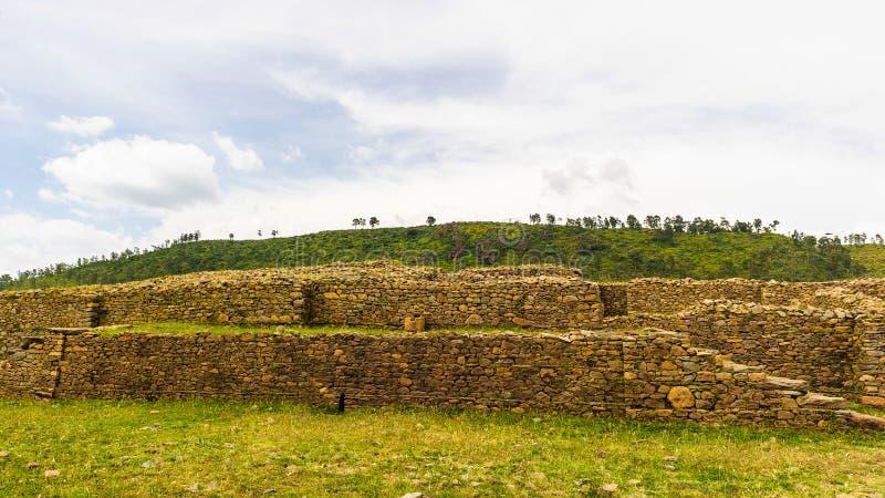 Aksum (阿克苏姆),埃塞俄比亚废墟  免版税库存照片