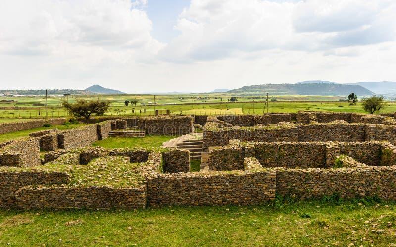 Aksum (阿克苏姆),埃塞俄比亚废墟  图库摄影