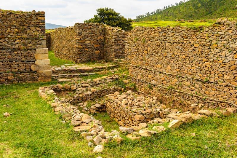 Aksum (阿克苏姆),埃塞俄比亚废墟  库存照片