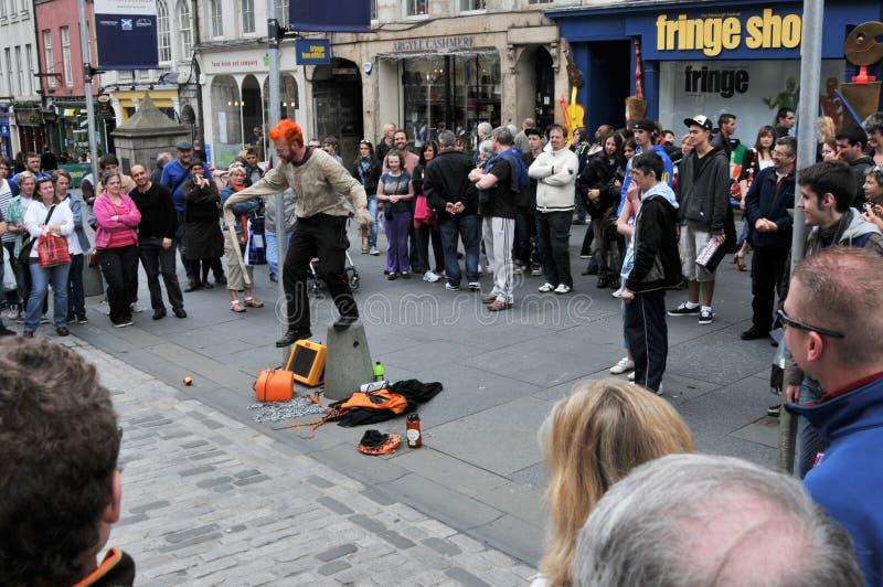 Aktörer på den Edinburgh festivalen royaltyfri foto