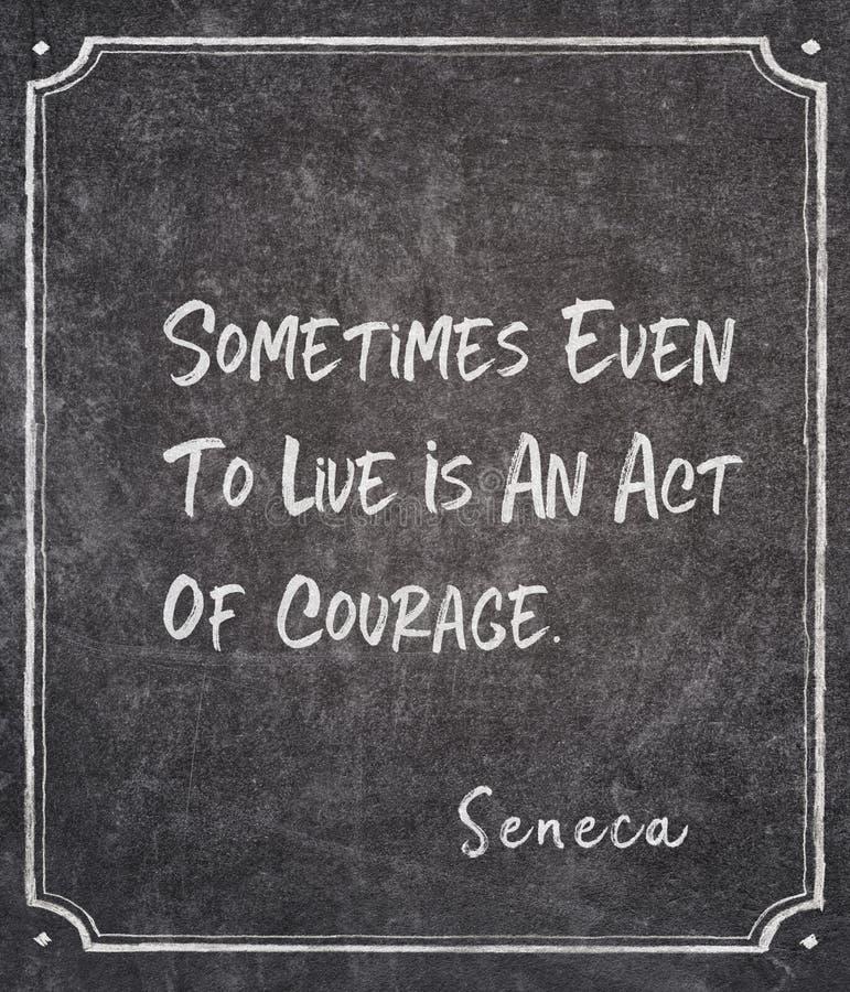 Akt odwagi Seneca wycena zdjęcia royalty free
