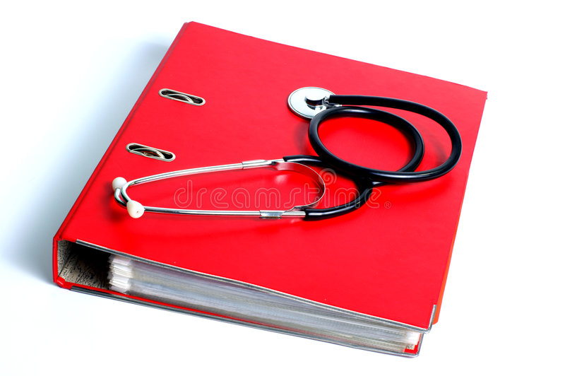 akta falcówki stetoskop obrazy stock