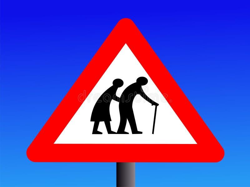 akta sig gammalare folk vektor illustrationer