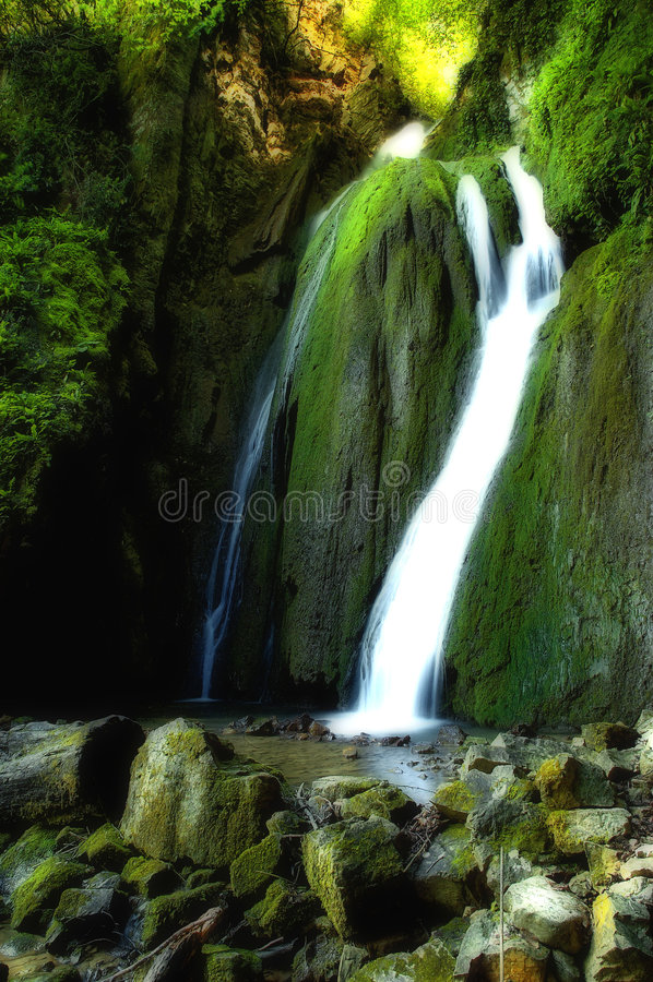 Aktas Falls Dream Version royalty free stock photography