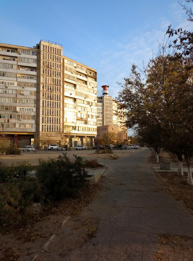 Aktau stad kazakhstan arkivfoto