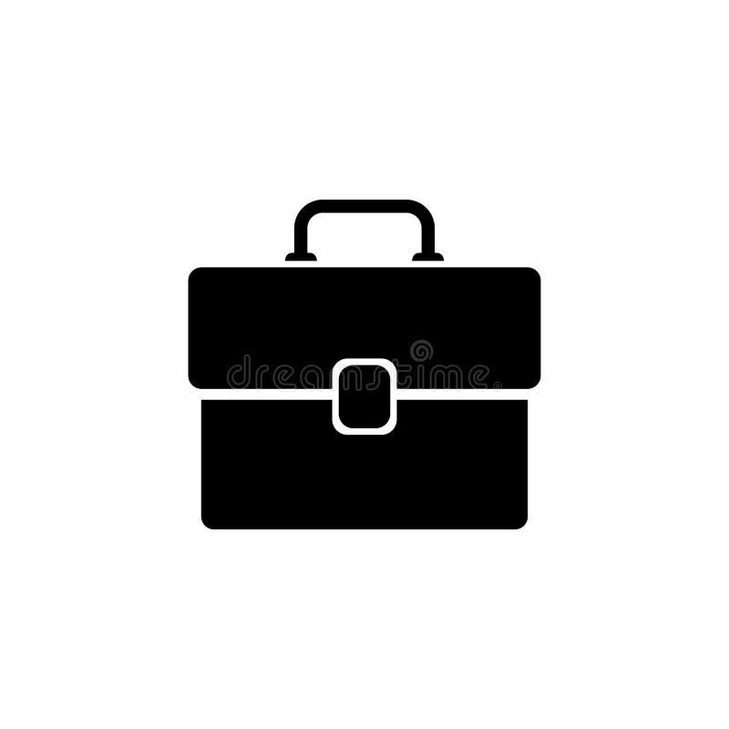 Aktenkoffer-flache Vektor-Ikone stock abbildung