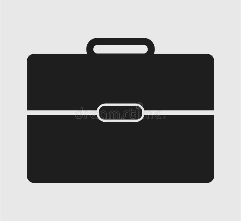 Aktenkoffer-Ikone auf grauem Hintergrund lizenzfreie abbildung