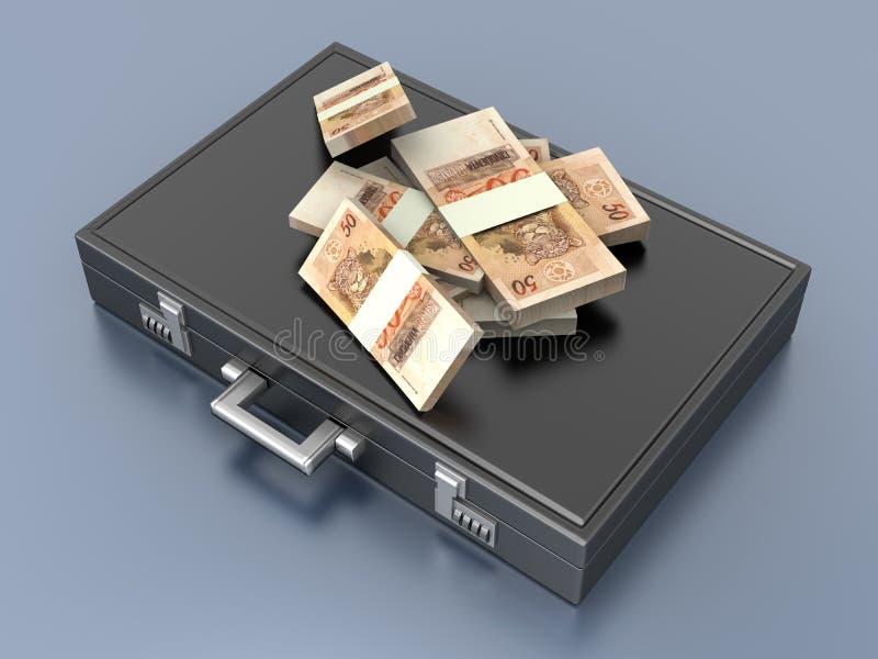 Aktenkoffer mit Bargeld vektor abbildung