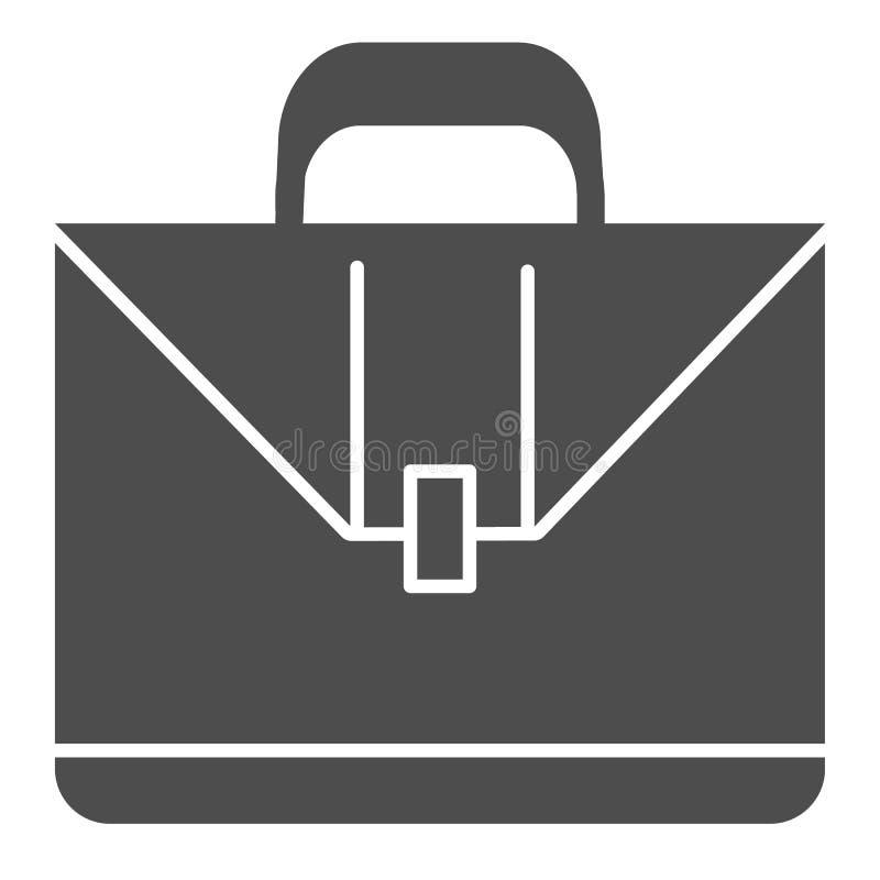 Aktenkofferkörperikone Fallvektorillustration lokalisiert auf Weiß Koffer Glyph-Artentwurf, bestimmt für Netz und App lizenzfreie abbildung