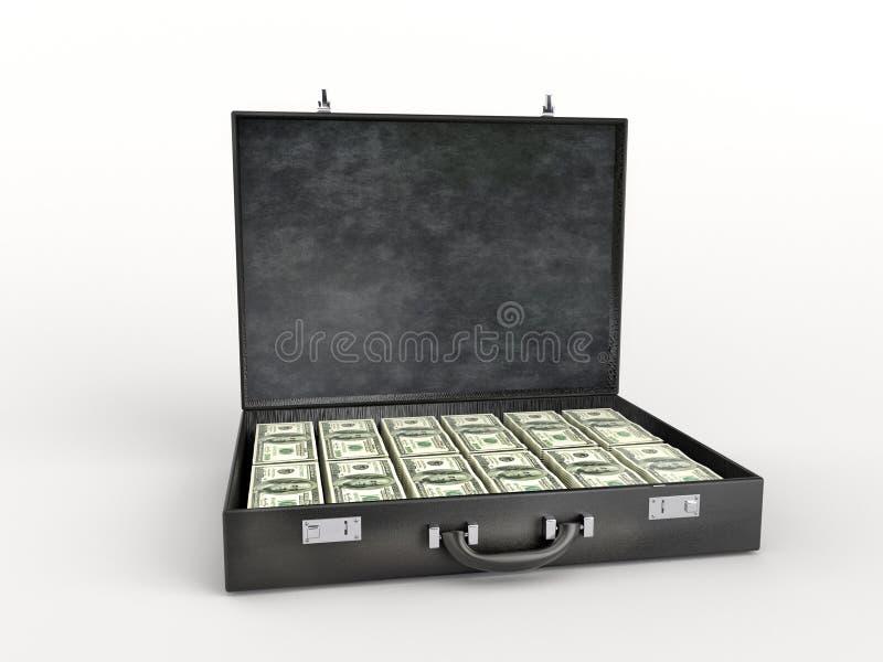 Aktentas met honderd dollarsrekeningen vector illustratie