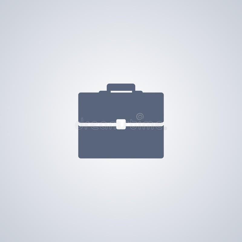 Aktentas, Zak, vector beste vlak pictogram stock illustratie