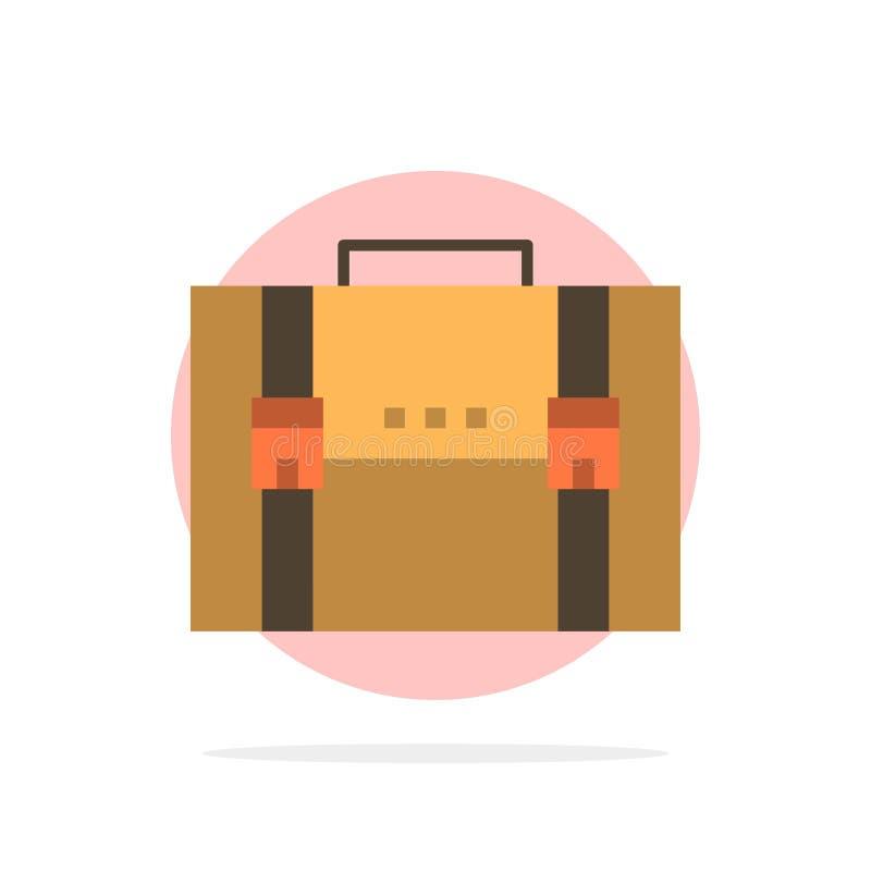 Aktentas, Zaken, Geval, Documenten, Marketing, Portefeuille, van de Achtergrond koffer Abstract Cirkel Vlak kleurenpictogram stock illustratie