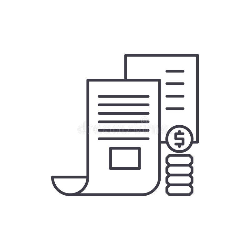 Aktieägareanteckninglinje symbolsbegrepp Linjär illustration för aktieägareanteckningvektor, symbol, tecken royaltyfri illustrationer