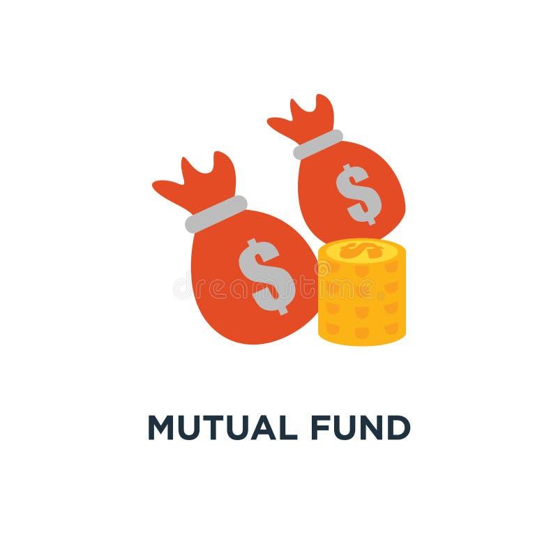 Aktieandelsfondsymbol den finansiella kapaciteten, budgeterar planläggningen, designen för symbolet för inkomsttillväxtbegreppet, royaltyfri illustrationer