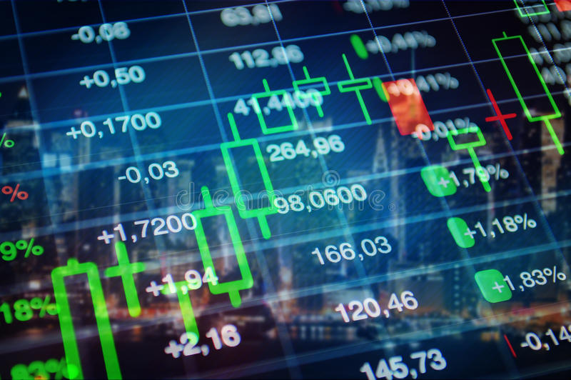 Aktiemarknad ekonomibakgrund royaltyfri bild
