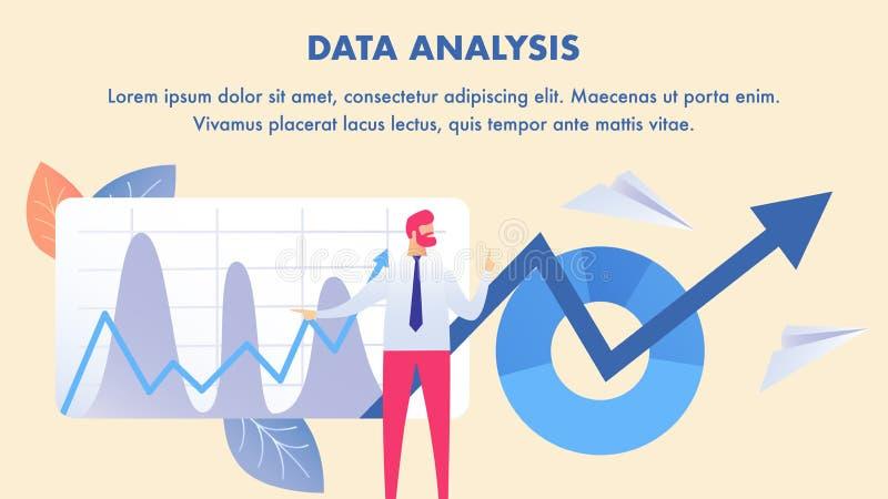 Aktiemarknadanalys, orientering för datavetenskapsbaner vektor illustrationer