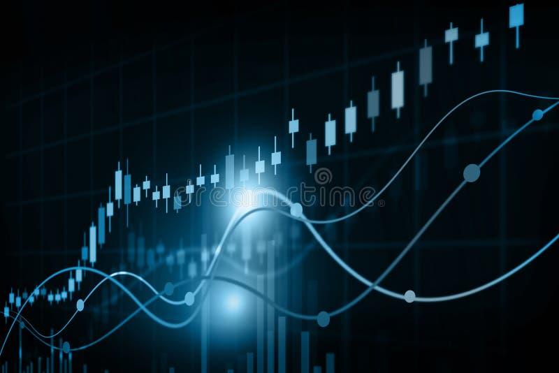 Aktiemarknaddiagram vektor illustrationer