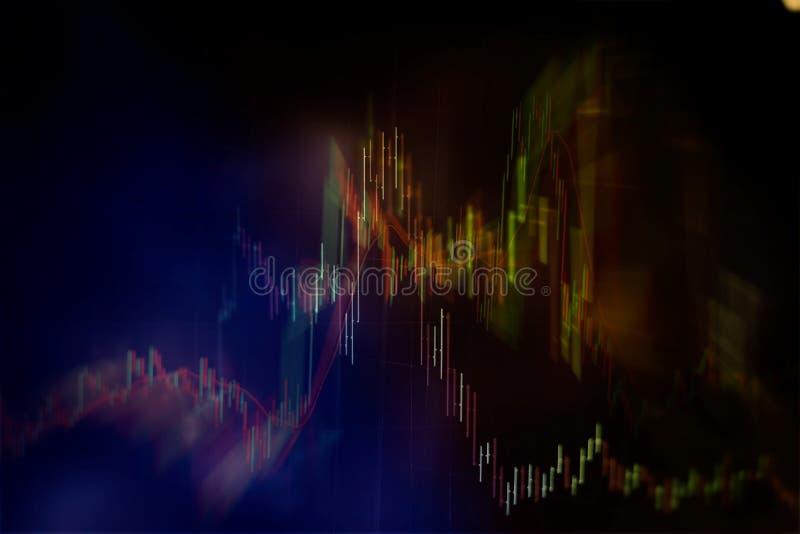 Aktiemarknaddiagram Bakgrund för affärsgraf Forexhandel affärsidé i färg vektor illustrationer