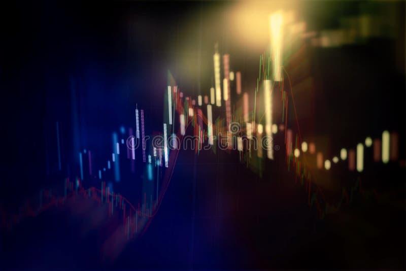 Aktiemarknaddiagram Bakgrund för affärsgraf Forexhandel affärsidé i färg stock illustrationer