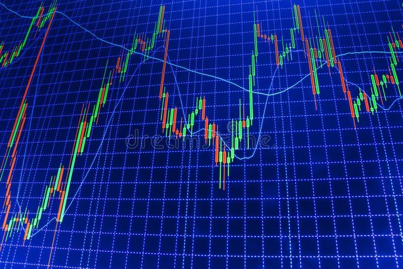Aktiemarknaden citerar grafen fotografering för bildbyråer